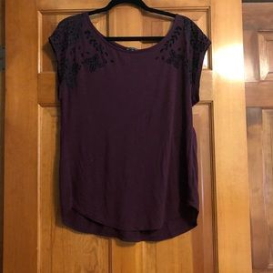 American Eagle T shirt with detailed Cap sleeves